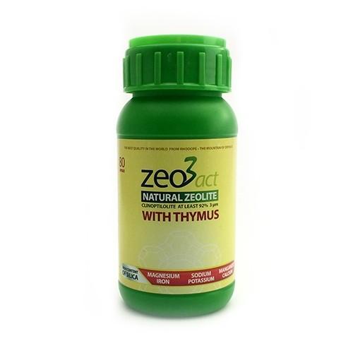 Zeo3act-T Ultra fine Zeolite + Thymus 80 Capsules